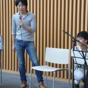 MMランチ・コンサートの企画趣旨について、代表の木許裕介さんが説明します。