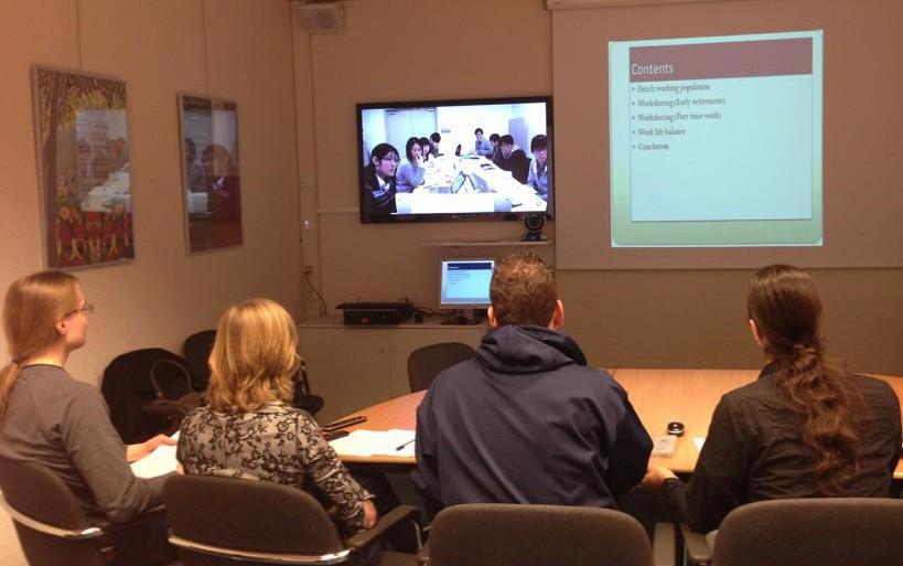 フローニンゲン大学の学生とPolycomを通じてビデオワークショップを行いました。